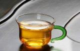 чашка чая 100ml Kungfu стеклянная с ручкой цвета