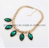 La primavera de Bisutería Cadenas ajustable con chapado en oro colgante de cristal verde de regalo para la Mujer
