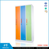 Kast Van uitstekende kwaliteit van het Metaal van de Garderobe van de Opslag van de School van 3 Deur van Mingxiu van Luoyang de Kleurrijke
