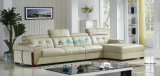 Type moderne L sofa de cuir de prix usine de forme (A25)