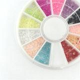 Farben-Perlen-Nagel-Kunst-Nagel der Mischungs-3D bördelt Rad, DIY Maniküre-Nagel-Dekorationen