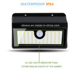 45 a prueba de agua solar del sensor de movimiento PIR Luz de jardín (RS2014) LED