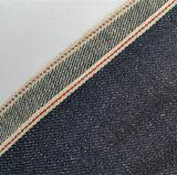 10oz Raw режущую контрпланку Ramie джинсовой ткани для мужчин джинсы 11008