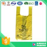 Perro de la bolsa de residuos biodegradables con asa Tie
