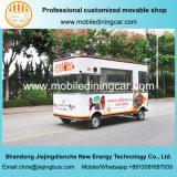 De mooie Vrachtwagen van het Snelle Voedsel Elelctric van Vier Wielen Mobiele met Ce
