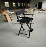 Zwarte met het Opvouwbare Canvas van de Voet Directeur Chair Stool High Makeup (m-X3466)