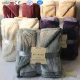 2017 горячая продажа удобных флис шерпа одеяло в несколько цветов параметр