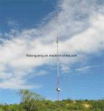 De telecomunicaciones de alambre de acero del mástil de la torre Guyed