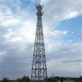 Fabricación de China de torre tubular Telecom galvanizada de la comunicación de acero