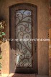 O design de portas de ferro fundido tradicional ferro única volta portas de entrada
