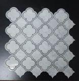 Hermosas flores diseño mariposa Verde Waterjet Waterjet mosaico de piedra de mármol