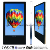 Plein écran LCD fixé au mur de réseau WiFi de HD 3G annonçant le kiosque