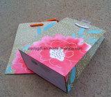 Bolso barato del embalaje del regalo del papel de imprenta de la flor
