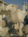 La Sculpture d'animaux, le chameau de sculpture, de marbre statuaire sculpté
