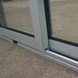 Ventana de aluminio de aleación de aluminio con aletas de aluminio con cerradura de cerrojo, Ventana corredera de aluminio K01010