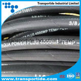 Boyau à haute pression flexible tressé en caoutchouc de rondelle de fil d'acier