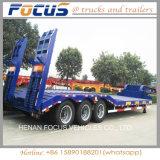 3 de Aanhangwagen van de Vrachtwagen van Lowboy van het Voertuig van het Vervoer van de Nuttige lading van assen 60tons