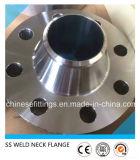Flanges inoxidáveis da garganta SS304 SS316 ASTM B16.5 da solda