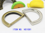 Zinc Alloy Metal D Ring pour sac et chaussures de vêtement