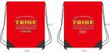 昇進のための個人化されたデザイン安いポリエステルドローストリング袋