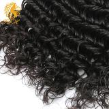 7A к категории 100% бразильского Virgin Реми человеческого волоса глубокую Weft кривой
