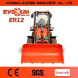 Everun Brand Agricultural Wheel Loader Er12 con Snow Bucket