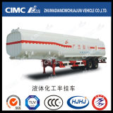 Cimc Huajun Carbon Steel 3 Axle 40m3 Fuel/Oil/Gasoline/LPG Tanker