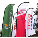 Novo Custom Size Design Feather Flag / Wind / Flying Flagcustom Print Exibição de publicidade exterior Teardrop / Vetical / Feather / Swooper / Beach Sports Event Pole Flag