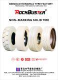 Fester Gabelstapler-Reifen weiße Nicht-Markierung