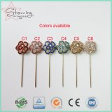 diamante colorido longo de 55mm que Shinning os pinos de Hijab do lenço de Hijab