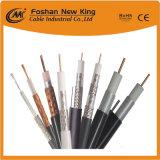 Haut de tressage de câble coaxial RG6 avec 2 câble d'alimentation (RG6 + 2DC) pour la vidéosurveillance/application CATV
