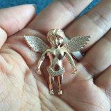 L'ange de diamant d'or de Rose de fille s'envole les pendants Mjhp040