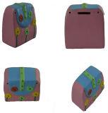 Mala de mão-de-rosa de cerâmica Hand-Painted Caixa de dinheiro para crianças