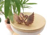 すばらしい方法のためのローズの金張りのダイヤモンドの白鳥のリングをカスタム設計しなさい