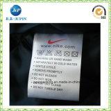Fabrik passte Satin-/Silkpolyester-Tuch-Sorgfalt-Wäsche-Kennsatz an (JP-CL057)