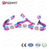 Wristband di evento del poliestere RFID con il chip di MIFARE DESFire EV1 2K