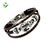 Le bracelet plat de cuir véritable d'usine d'approvisionnement de la livraison rapide la plus neuve de qualité supérieure