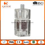 Moulin manuel acrylique de sel et de poivre de mécanisme en céramique