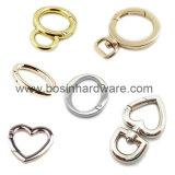 Anelli aperti del cancello dello schiocco della molla del cuore del metallo