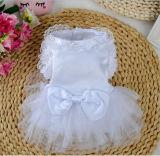 Mascota de alimentación, vestido de novia de alta calidad para perros pequeños