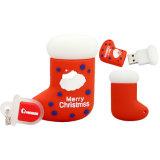 Botas de dibujos animados de 16GB USB Flash Drive regalos de Navidad