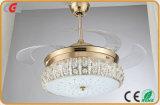 LED 천장 선풍기 램프 수정같은 시리즈 장식적인 천장 선풍기 빛 대중음식점을%s 소형 팬 LED 빛, 가구 사용