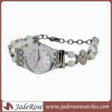 Reloj Pulsera de la plaza de plata Aleación de cristal de lujo Relojes de Pulsera Reloj de cuarzo de Moda Mujer