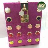La perla tamaño pequeño del bolso del cuadrado de la manera del bolso de tarde adornó el bolso de embrague con el precio al por mayor Eb939