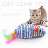 Spitzennatur-lustigste Mäusekugel-Plüsch-Katze-Spielwaren mit Federn