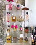Crémaillère d'étalage acrylique d'organisateur de parfum de rangée en gros de la coutume 4
