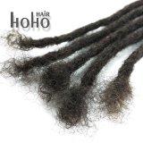 Capelli umani crespi Dreadlocks di Afro del Crochet di colore scuro di 14 pollici