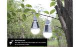 De Lichte LEIDENE van de Bol van het zonnepaneel Aangedreven Lichte E27 7W Draagbare Waterdichte Gloeilamp van de Noodsituatie voor het Binnen Openlucht Kamperen van de Wandeling van de Tuin