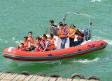 Funsor PVC/Hypalonの膨脹可能なボートの/Fiberglassのボート(22F)