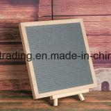 Scheda di legno personalizzata della lettera del feltro del nero dell'appunto